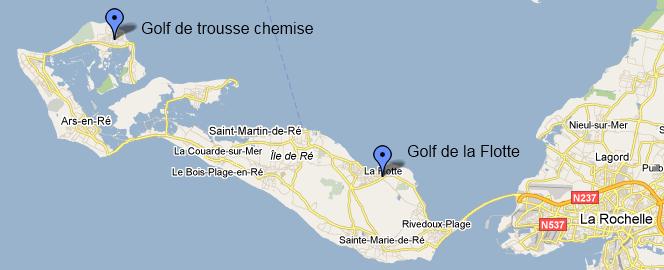 Où trouver un golf sur l'île de ré