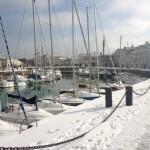 Le port de Saint Martin sous la neige via @AudeGuillemine